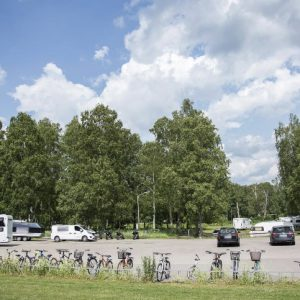 cykelställ parkeing camping